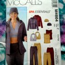 McCalls Pattern # 4664 UNCUT Spa Wardrobe Top Pants Jacket STRETCH KNITS Size Large XL