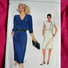 Very Easy Vogue Pattern # 8879 UNCUT Misses Dress Size 14 16 18