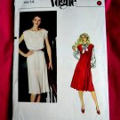 Vogue Pattern # 8030 UNCUT Misses Dress/Jumper Pleats Size 14