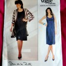Vogue Pattern # 1121 UNCUT Dress Jacket Size 14 16 18 Oscar de la Renta
