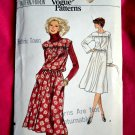Easy Vogue Pattern # 9870 UNCUT Misses Pull-Over Dress Size 14