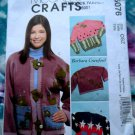 McCalls Pattern #5076 UNCUT Craft Jacket/Sweatshirt Appliqués ALL Sizes