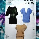KWIK SEW Pattern # 3496 Top STRETCH KNITS Size XS Small Medium Large XL