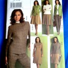 Vogue Pattern # 8343 UNCUT Misses Wardrobe Jacket Top Skirt Pants Size 12 14 16