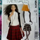 McCalls Pattern # 5474 UNCUT Misses Skirt Size 12 14 16 18