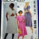 McCalls Pattern # 9619 UNCUT Misses Summer Dress Size 14 UNIQUE Bare Back