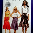 Vogue Pattern # 8200 UNCUT Misses Skirt Variations Size 12 14 16