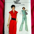 Very Easy Vogue Pattern # 9451 UNCUT Misses Top Pants Dress Size 18 ½ Half Size