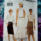 Vogue Pattern # 9431 UNCUT Misses Bias Lined Skirt Size 6 8 10