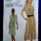 Vogue Pattern # 8021 UNCUT Misses Shirtdress Size 16 18 20 22