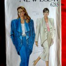 New Look Pattern # 6285 UNCUT Misses Jacket Skirt Size 8 10 12 14 16 18