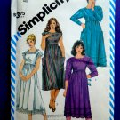 Simplicity Pattern # 6186 Loose Fitting Empire Waist Dress Size 14 Vintage 1983