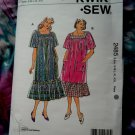 Kwik Sew Pattern # 2485 UNCUT Misses Loose Dress Muumuu Size Small Medium Large XL XXL