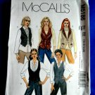 McCalls Pattern # 5186 UNCUT Misses Lined VEST VARIATIONS Size 14 16 18 20
