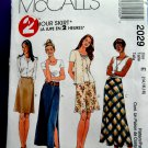 McCalls Pattern # 2029 UNCUT Misses Skirt Various Lengths Size 14 16 18