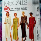 McCalls Pattern # 9459 UNCUT Misses Jacket Dress Size 12 14 16