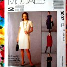 McCalls Pattern # 9007 UNCUT Misses Dress EASY Variations Size 14 16 18