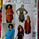 McCalls Pattern # 6168 UNCUT Misses Cardigans STRETCH KNITS ONLY Size 8 10 12 14 16