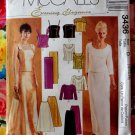 McCall's Pattern # 3436 UNCUT Misses Evening Elegance Formal Top Skirt  Size 12 14 16