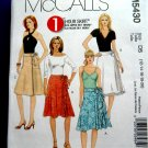 McCalls Pattern #5430 UNCUT Misses Front Wrap Skirt Variations Size 12 14 16 18 20