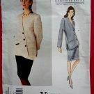 Vogue Pattern # 1332 UNCUT Misses Jacket Skirt Size 16 18  Geoffrey Beene American Designer