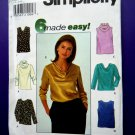 Simplicity Pattern # 7884 UNCUT Pull-Over Top Variations Size 12 14 16