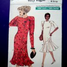 Vogue Pattern # 7033 UNCUT Misses Dress Size 8 10 12 Flounce