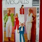 McCalls Pattern # 3236 UNCUT Misses Camisole Jacket Pants Size 10 12 14