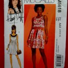 McCalls Pattern # 5618 UNCUT Summer Dress Size 4 6 8 10 Hillary Duff Summer Dress