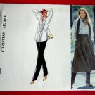 Vogue Pattern # 1954 UNCUT Misses Blouse Culottes Pants Size 12 Christian Aujard French Boutique