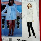 Vogue Pattern # 1551 UNCUT Misses Jacket Short Pants Size 8 10 12 Donna Karan