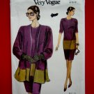 Very Easy Vogue Pattern # 8137 UNCUT Misses Dress Jacket Size 8 10 12
