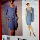 Vogue Pattern # 1404 UNCUT Misses Jacket Dress Size 8 10 12 Oscar de la Renta American Designer