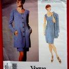 Vogue Pattern # 1404 UNCUT Misses Jacket Dress Size 8 10 12 Oscar de la Renta American Designer