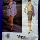 Vogue Pattern # 1436 UNCUT Misses Jacket Skirt Size 6 8 10 Anne Klein II American Designer