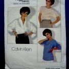 Vogue Pattern # 1128 UNCUT Misses Blouse Size 10 ONLY Calvin Klein American Designer