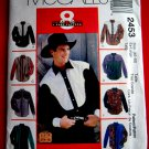 McCalls Pattern # 2453 UNCUT Mens Western Cowboy Shirt Size XL (Chest 46-48 inches)