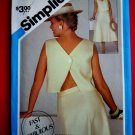 Simplicity Pattern # 6443 UNCUT Misses Fun Top Skirt Size 10 12 14 Vintage 1984