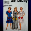 Simplicity Pattern # 9667 UNCUT Misses Housedress Pullover Dress Size XS Small Medium