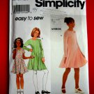Simplicity Pattern # 7953 UNCUT Girls Dress STRETCH KNITS ONLY Size 7 8 10