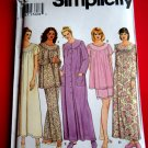 Simplicity Pattern # 9012 UNCUT Misses Sleepwear Pajamas Top Bottom Nightgown Size XS Small Medium