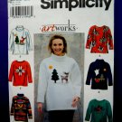 Simplicity Pattern # 8251 Misses Fleece Top Appliqués Size Large XL