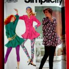 Simplicity Pattern # 7449 UNCUT Misses Leggings Tops Size 4 6 8 10