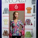 McCalls Pattern # 4660 UNCUT Misses Pull-Over Blouse/Top Variations Size 14 16 18 20