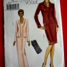 Vogue Pattern # 8188 Easy UNCUT Misses Dress Jacket Size 8 10 12 14