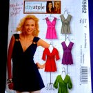 McCalls Pattern # 5662 UNCUT Misses Summer Top STRETCH KNITS ONLY Size XS Small Medium