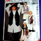 McCalls Pattern # 7231 UNCUT Misses Vest Shirt Size XS Small Medium