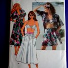Butterick Pattern # 5673 UNCUT Misses Summer Shirt Bra Shorts Skirt Size 8 10 12