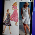 Simplicity Pattern # 7278 UNCUT Misses Summer Dress Flared Skirt or Culottes Size 8 10 12 14 16