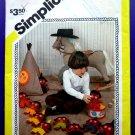 Simplicity Pattern # 6100 UNCUT Vintage Soft Felt Toys Indians Teepee